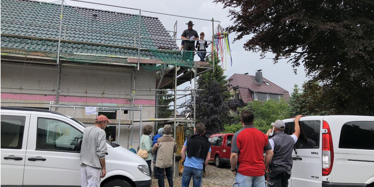 Richtfest eines Flair 125 in Limbach-Oberfrohna