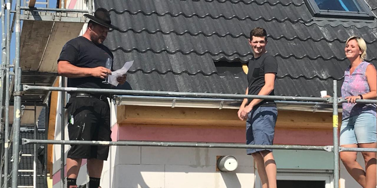 Richtfest eines Flair 134 in Limbach-Oberfrohna