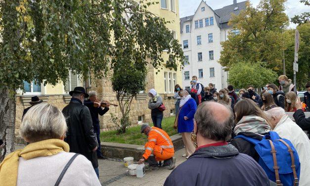 Stolpersteinverlegung in Chemnitz